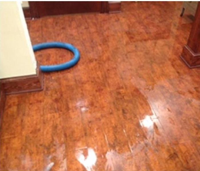 Wet Floor After Water Loss